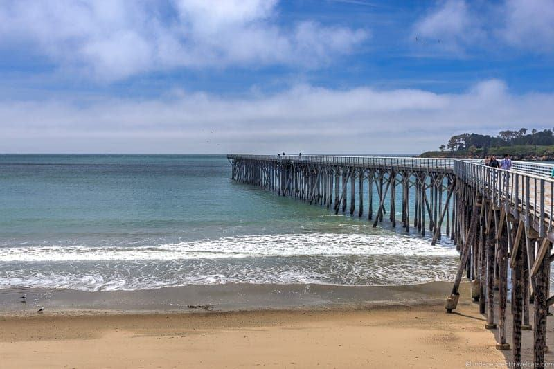 William Randolph Hearst State Beach wooden pier San Simeon California