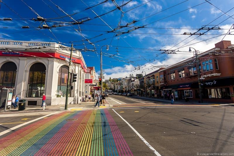 Castro rainbow crosswalk san francisco native tours