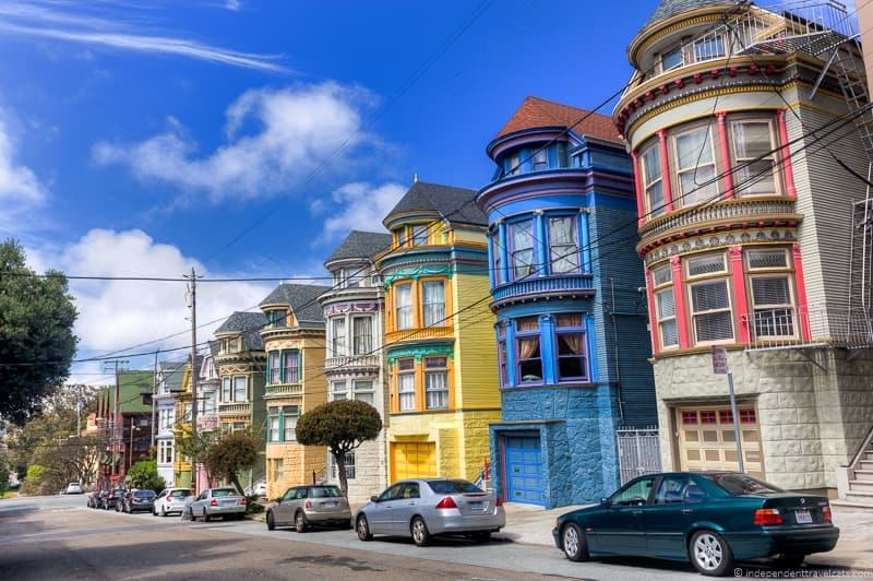 Colorful houses haight ashbury san francisco