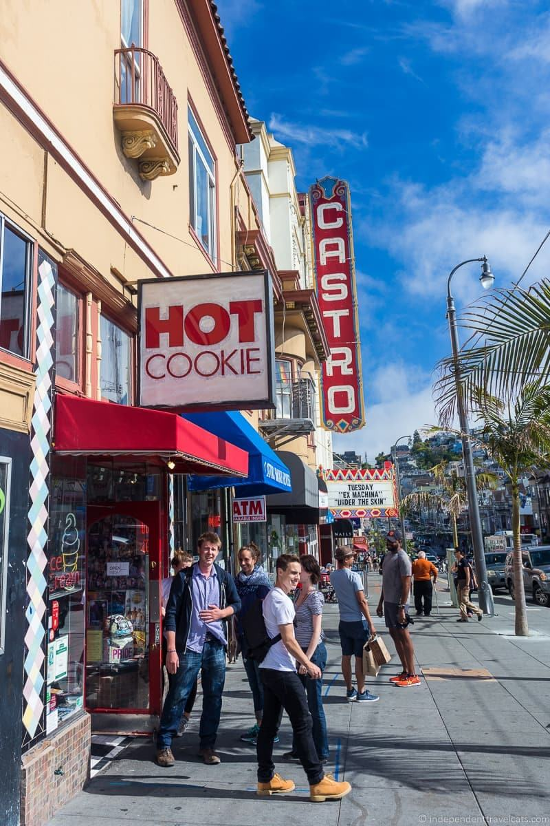 Hot cookie shop Castro san francisco native tours
