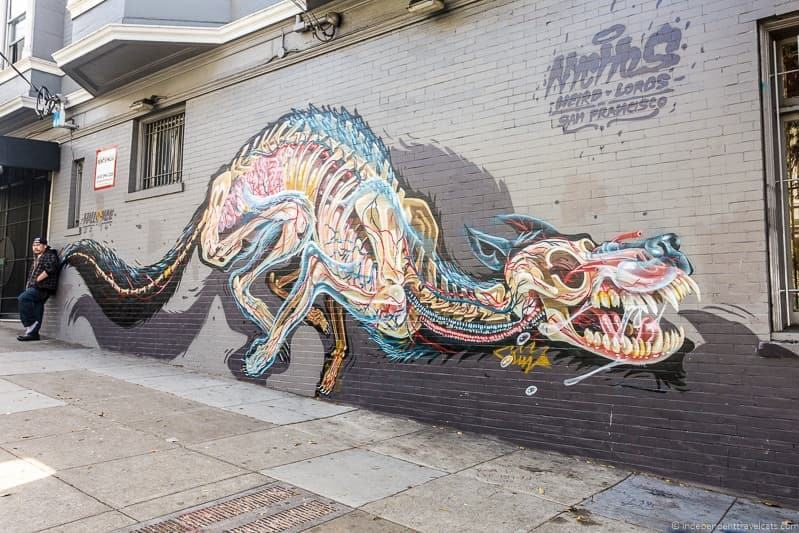 Haight Ashbury dog mural San Francisco Native Tours