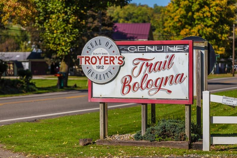 Troyer's Trail Bologna Trail Ohio things to do in Amish Country Ohio visiting Holmes County Ohio