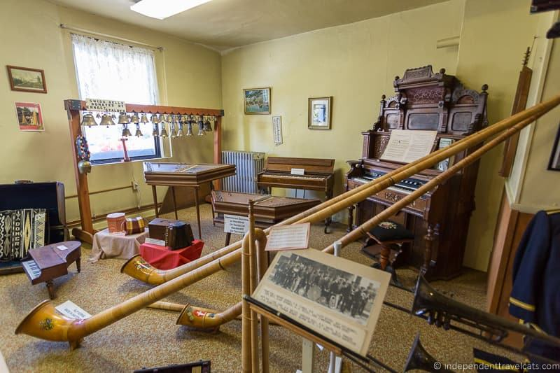 alphorns at Alpine Hills Historical Museum things to do in Amish Country Ohio visiting Holmes County Ohio