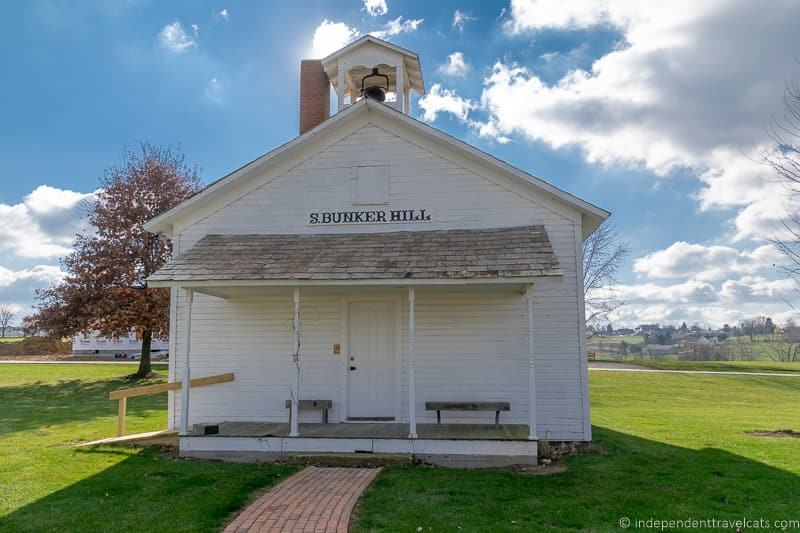 Bunker Hill one room school house Amish & Mennonite Heritage Center visit amish country ohio