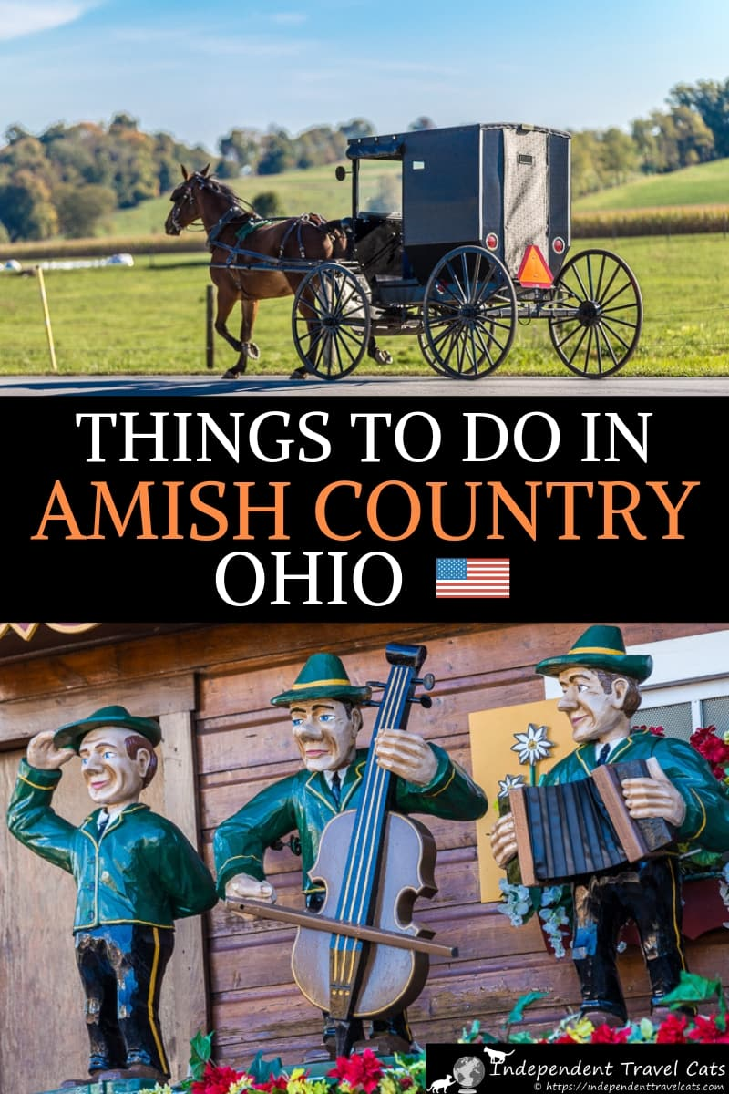A guide to things to do in Amish Country Ohio from a local Ohioan. Amish Country Ohio is located in northeast central Ohio and Holmes County has the largest community of Amish in the world. Our Amish Country guide covers what to see, things to do, where to eat, where to shop, and where to stay in Amish Country Ohio. Great tips for first time visitors to this family-friendly part of Ohio. #AmishCountryOhio #AmishCountry #HolmesCounty #Ohio #travel #Ohiotravel #Amish