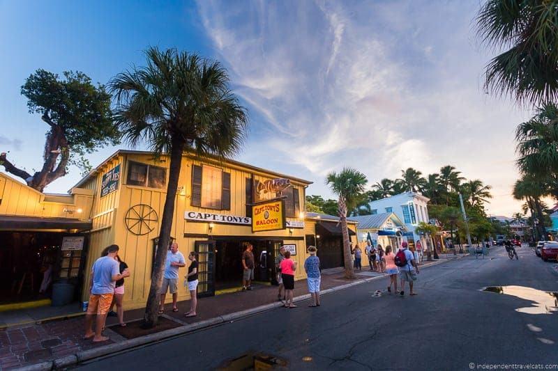 Captain Ton's Saloon Hemingway in Key West Florida