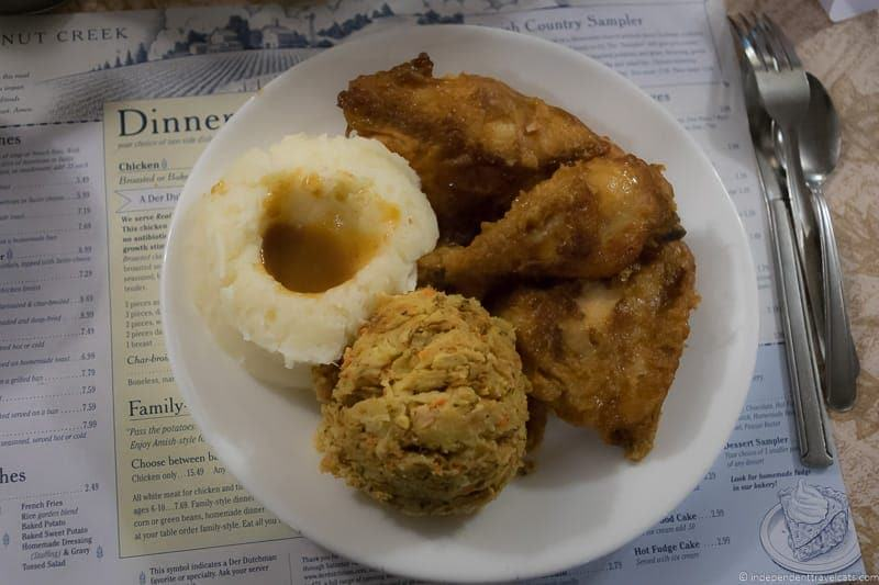 chicken dinner Der Dutchman Walnut Creek Ohio things to do in Amish Country Ohio visiting Holmes County Ohio