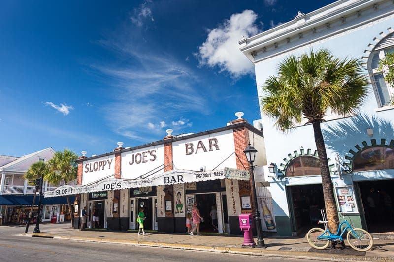 Sloppy Joe's Bar Hemingway in Key West Florida