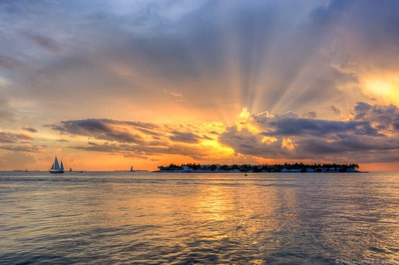 Sunset over Sunset Key in Key West Florida