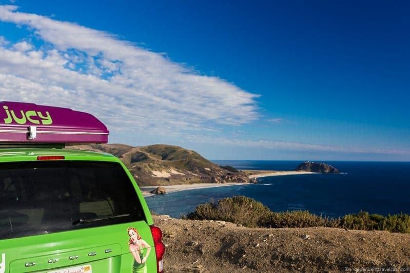 JUCY RV campervan California Pacific Coast Highway 1 road trip