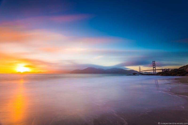 San Francisco Baker Beach California Pacific Coast Highway 1 road trip