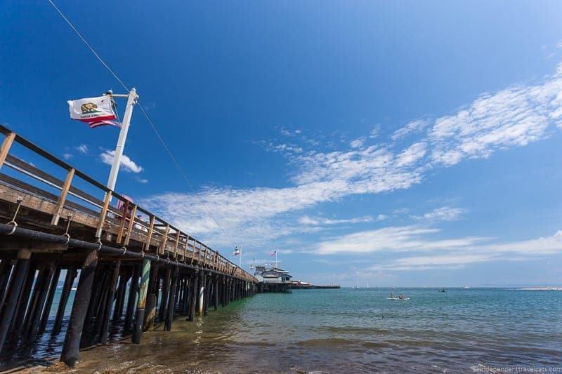 Santa Barbara pier California Pacific Coast Highway 1 road trip