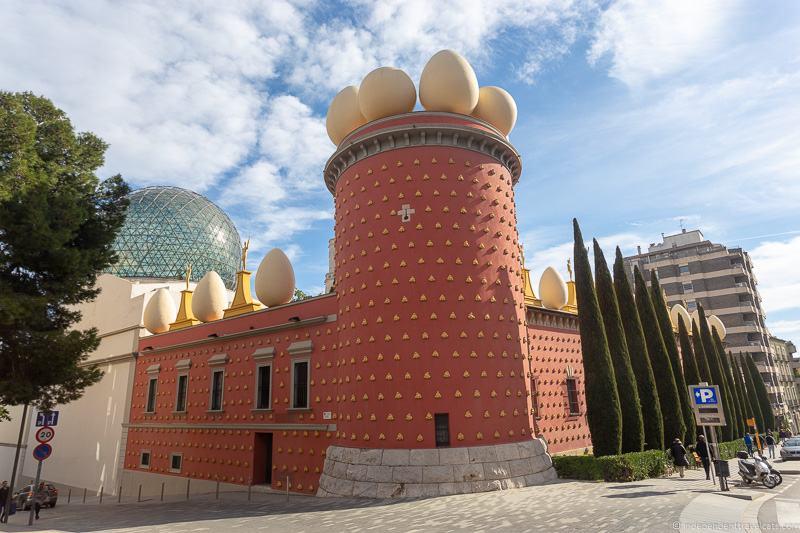 Dalí Theatre Museum Figueres Salvador Dalí Museum in Costa Brava Barcelona Spain