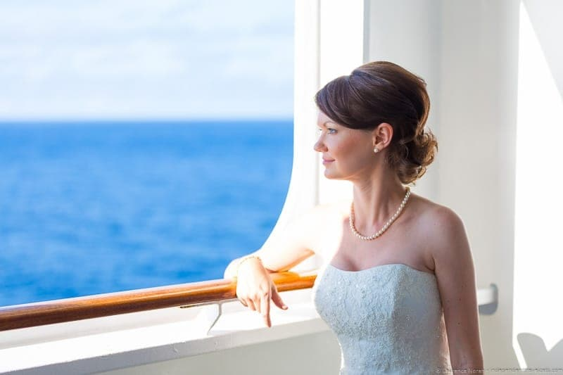 Cunard Queen Mary 2 wedding at sea cruise