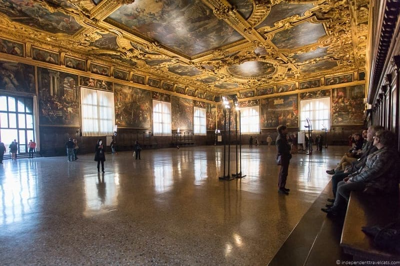 Chamber of the Grand Council Doge's Palace Venice st. mark's basilica without the crowds