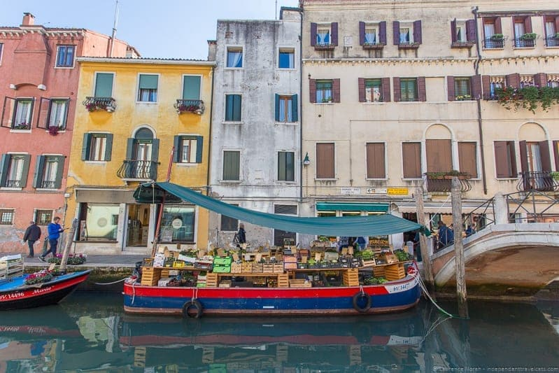floating vegetable market Context Travel Venice