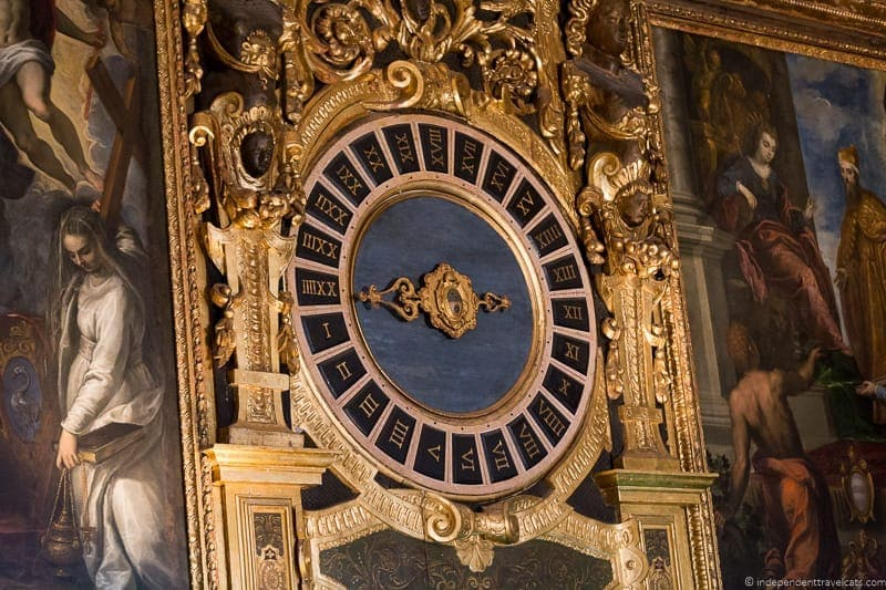 clock Doge's Palace Venice st. mark's basilica without the crowds