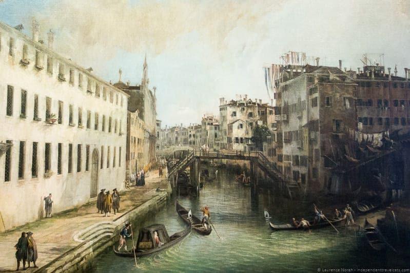 Rio dei Mendicanti Canaletto Ca' Rezzonico Context Travel