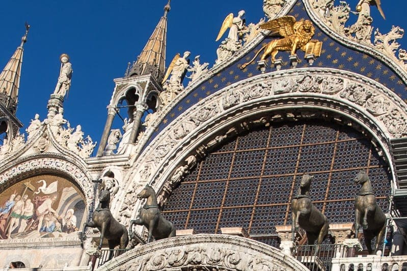 bronze horses winged lion saint marks basilica st. mark's basilica without the crowds