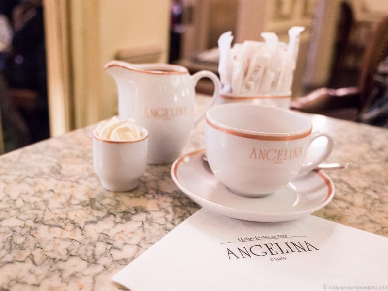 Angelina afternoon tea in Paris