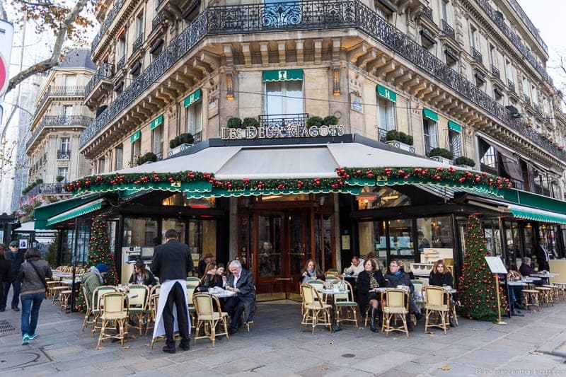 Les Deux Magots afternoon tea in Paris