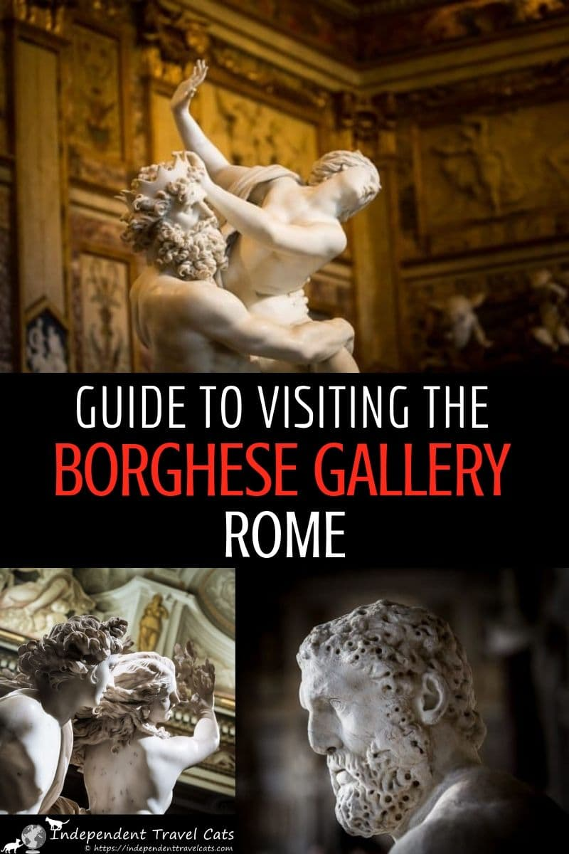 A guide to booking reservations, visiting, and exploring the art of the Borghese Gallery in Rome Italy. The Galleria Borghese, or Borghese Gallery, features one of the world's greatest private art collections within a 17th century Roman villa. The collection includes major works by Bernini, Titian, Caravaggio, Raphael, and Canova. We share tips for making the most out of your visit to this art museum. #BorgheseGallery #VillaBorghese #GalleriaBorghese #Rome #Rometravel #art #artmuseum #Italy
