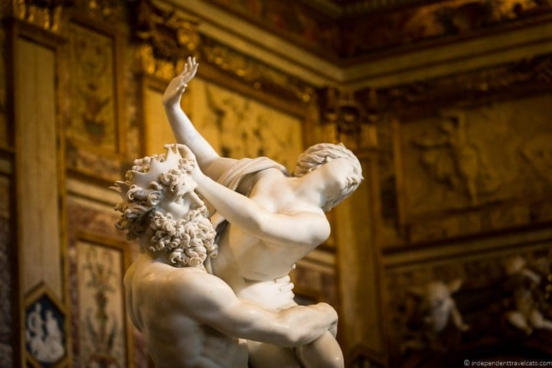 The Rape of Proserpina Bernini Borghese Gallery Galleria Borghese Rome Italy
