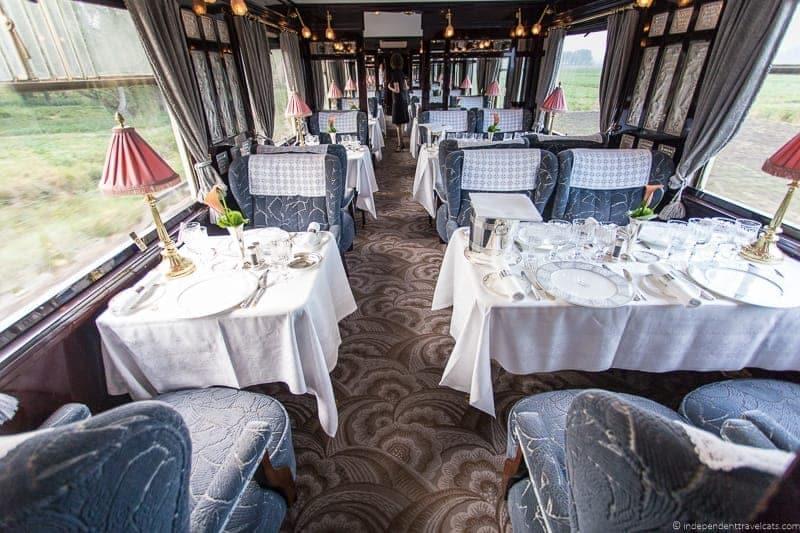 Belmond Venice Simplon Orient Express train Côte d'Azur dining car