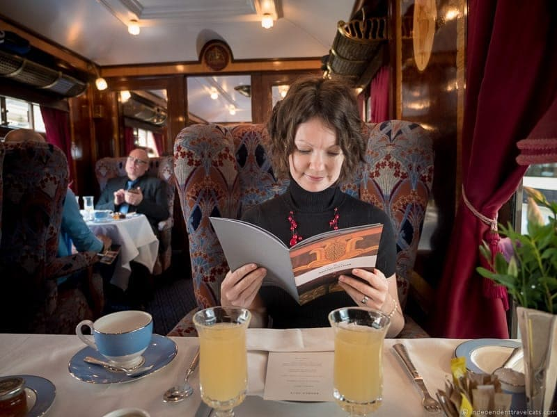 Belmond Venice Simplon Orient Express train Ibis British Pullman brunch