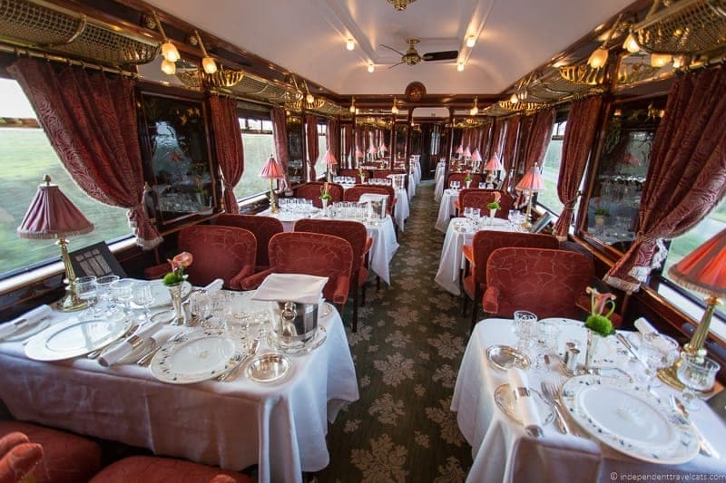 Belmond Venice Simplon Orient Express train L' Oriental dining car