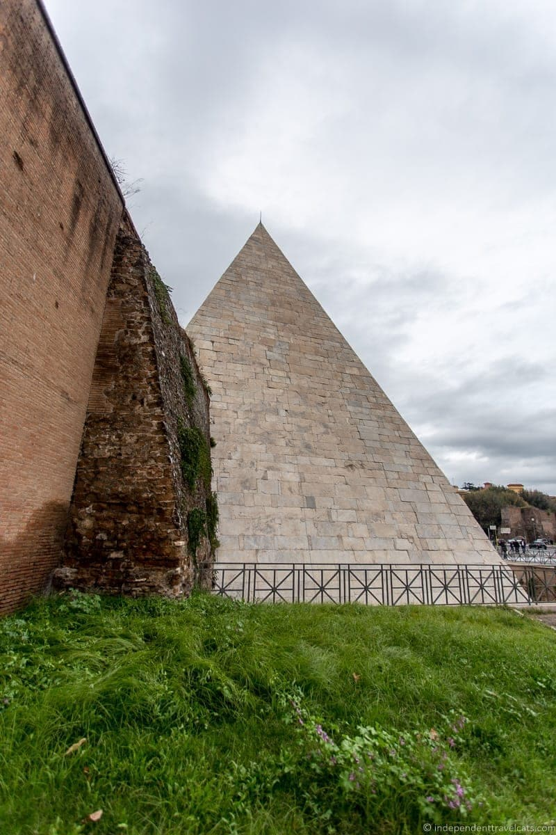 Pyramid of Cestius Aurelian Wall Grand Tour in Rome Italy