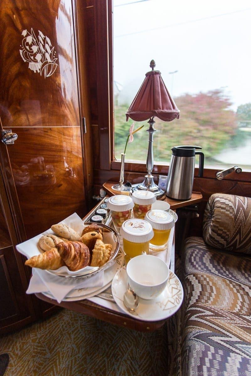 Belmond Venice Simplon Orient Express train continental breakfast