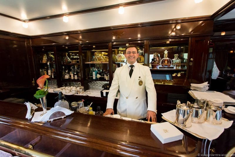 Belmond Venice Simplon Orient Express train bar lounge car Walter Nisi