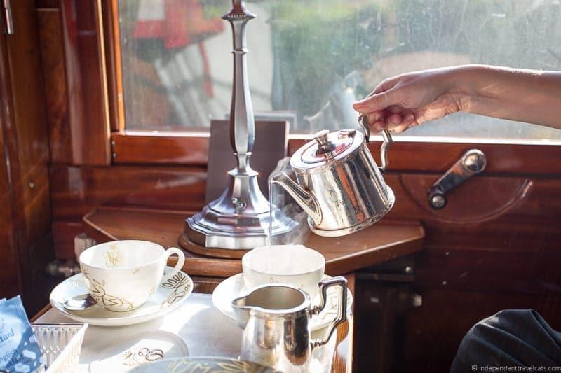 Venice Simplon Orient Express train tea