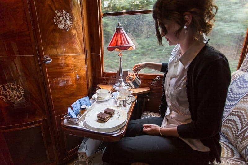 Venice Simplon Orient Express train afternoon tea