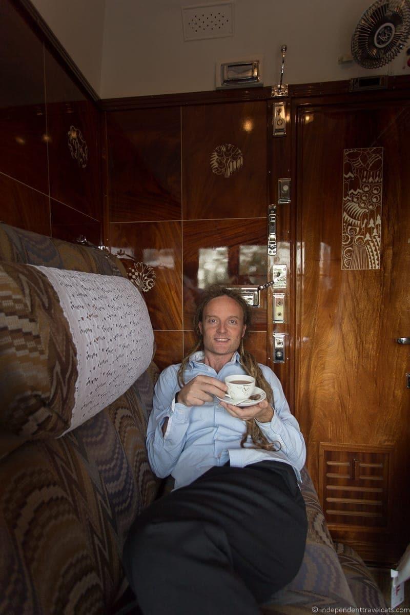Belmond Venice Simplon Orient Express train coffee