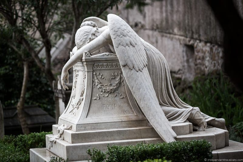 Emelyn Story grave Angel of Grief Non Catholic Cemetery Grand Tour in Rome