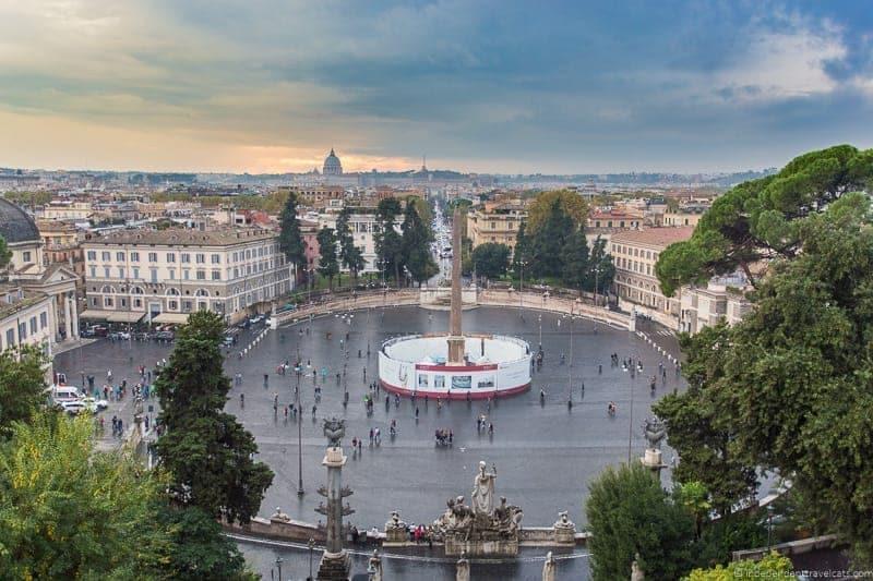Piazza del Popolo Grand Tour in Rome Italy