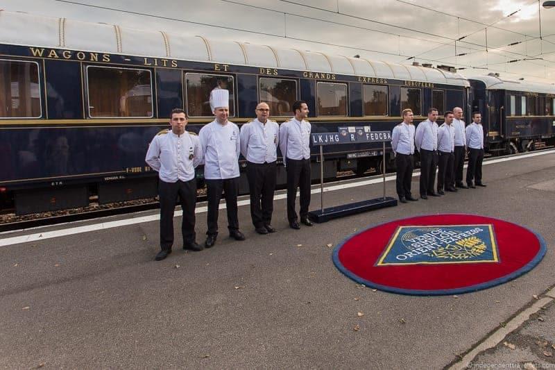 Belmond Venice Simplon Orient Express staff in Calais