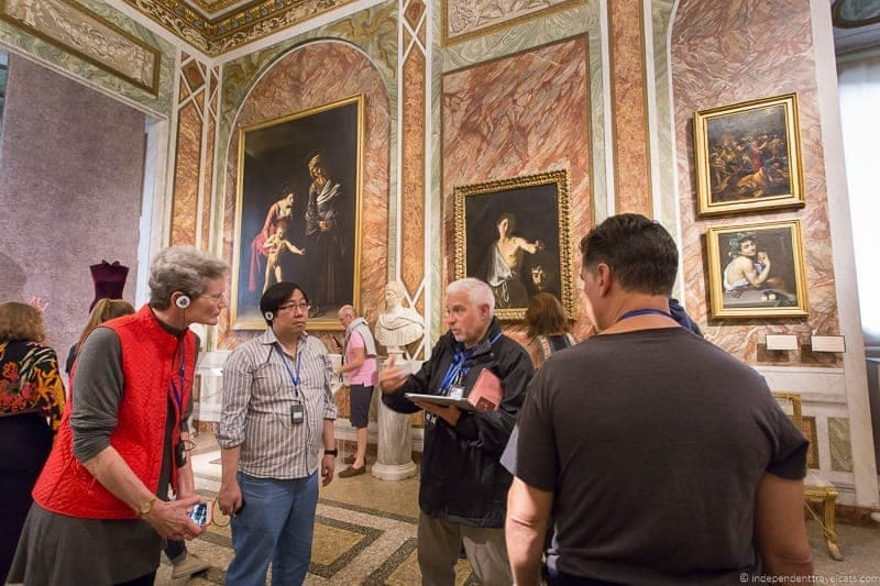 Caravaggio paintings visit Borghese Gallery Galleria Borghese Rome Italy