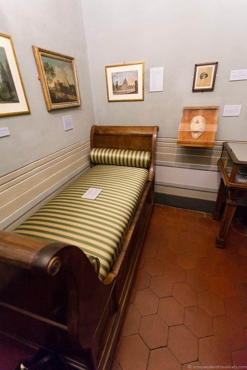 John Keats bedroom where he died Keats-Shelley House Grand Tour in Rome