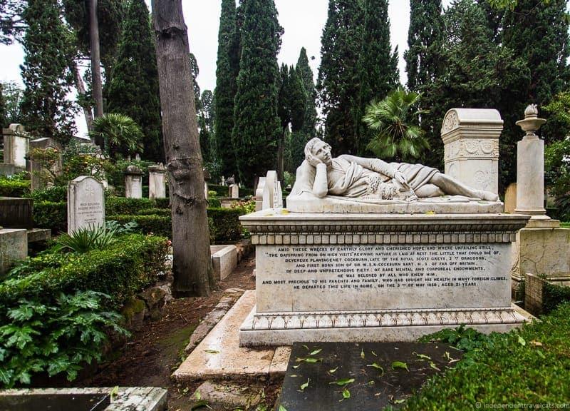 Devereux Plantagenet Cockburn grave Non Catholic Cemetery Grand Tour in Rome Italy grave Non Catholic Cemetery Grand Tour in Rome Italy