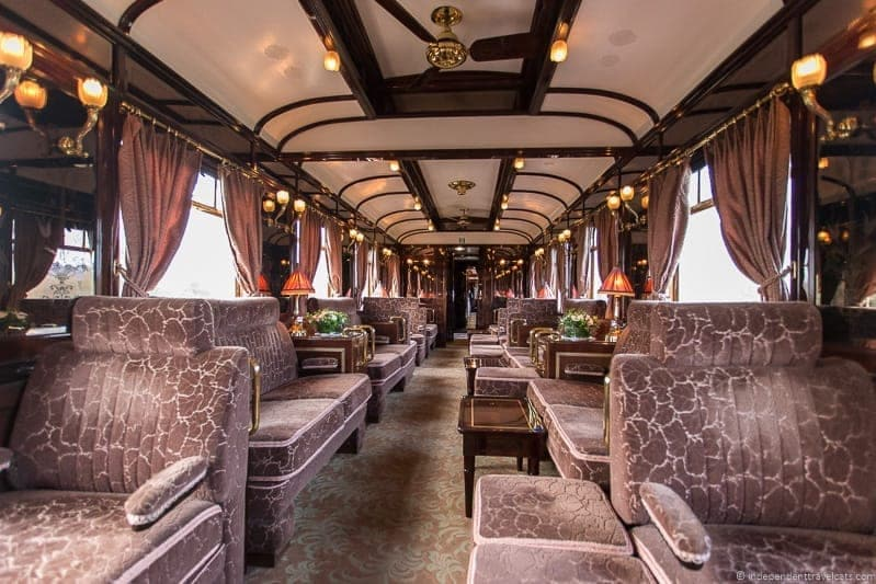 Belmond Venice Simplon Orient Express train lounge car