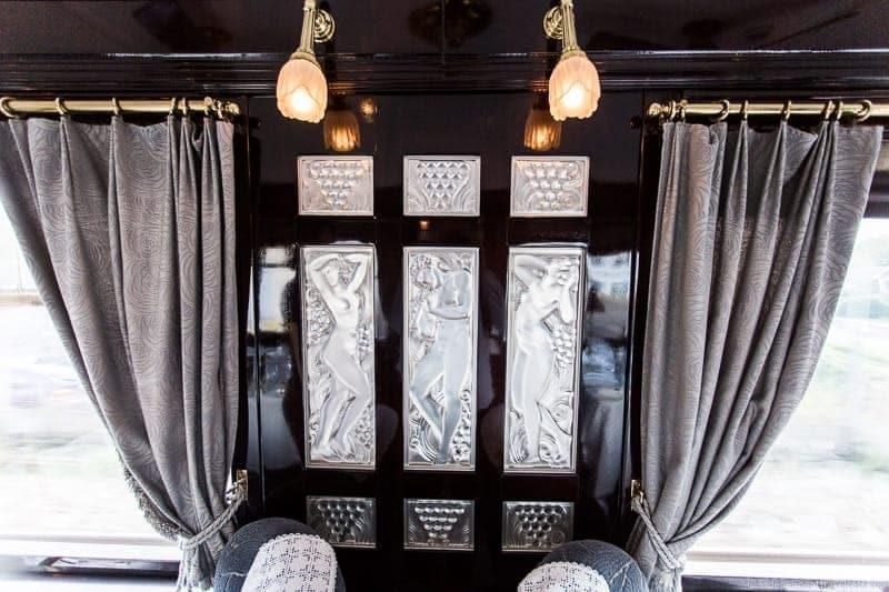 Lalique panels Côte d'Azur dining car Venice simplon orient express train
