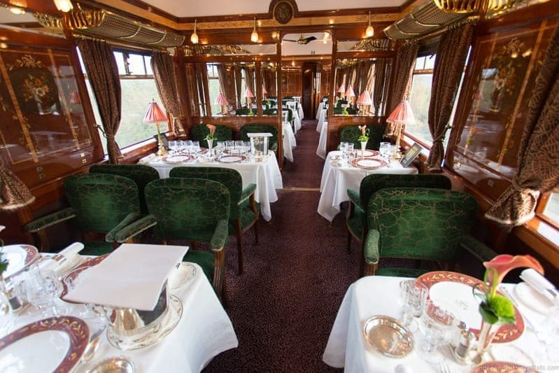 Belmond Venice Simplon Orient Express train Etoile du Nord dining car