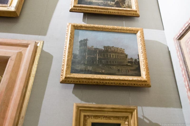 The Coliseum Canaletto Borghese Gallery Rome Italy Canaletto
