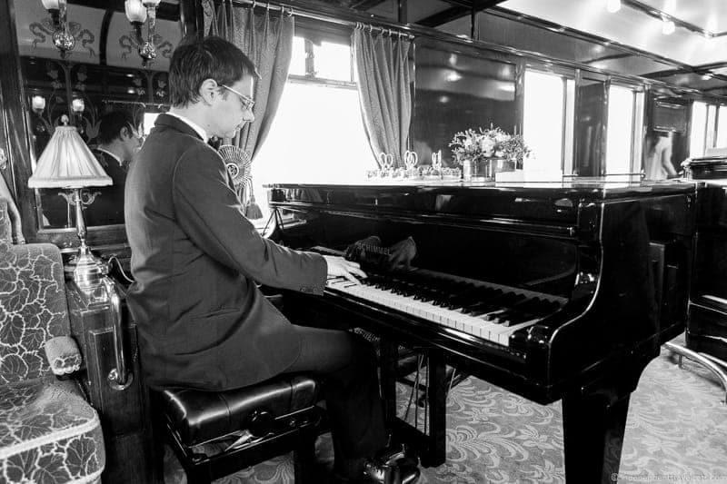Venice Simplon Orient Express train pianist