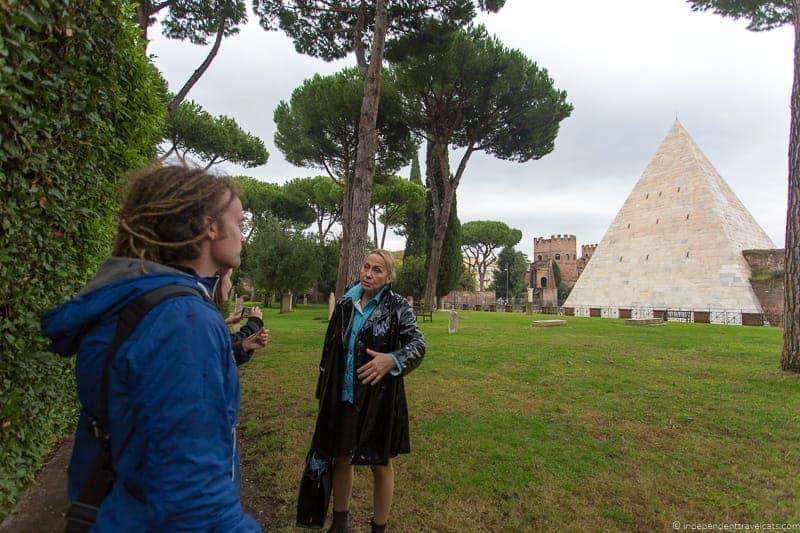 Pyramid of Cestius Non Catholic Cemetery Grand Tour in Rome Italy