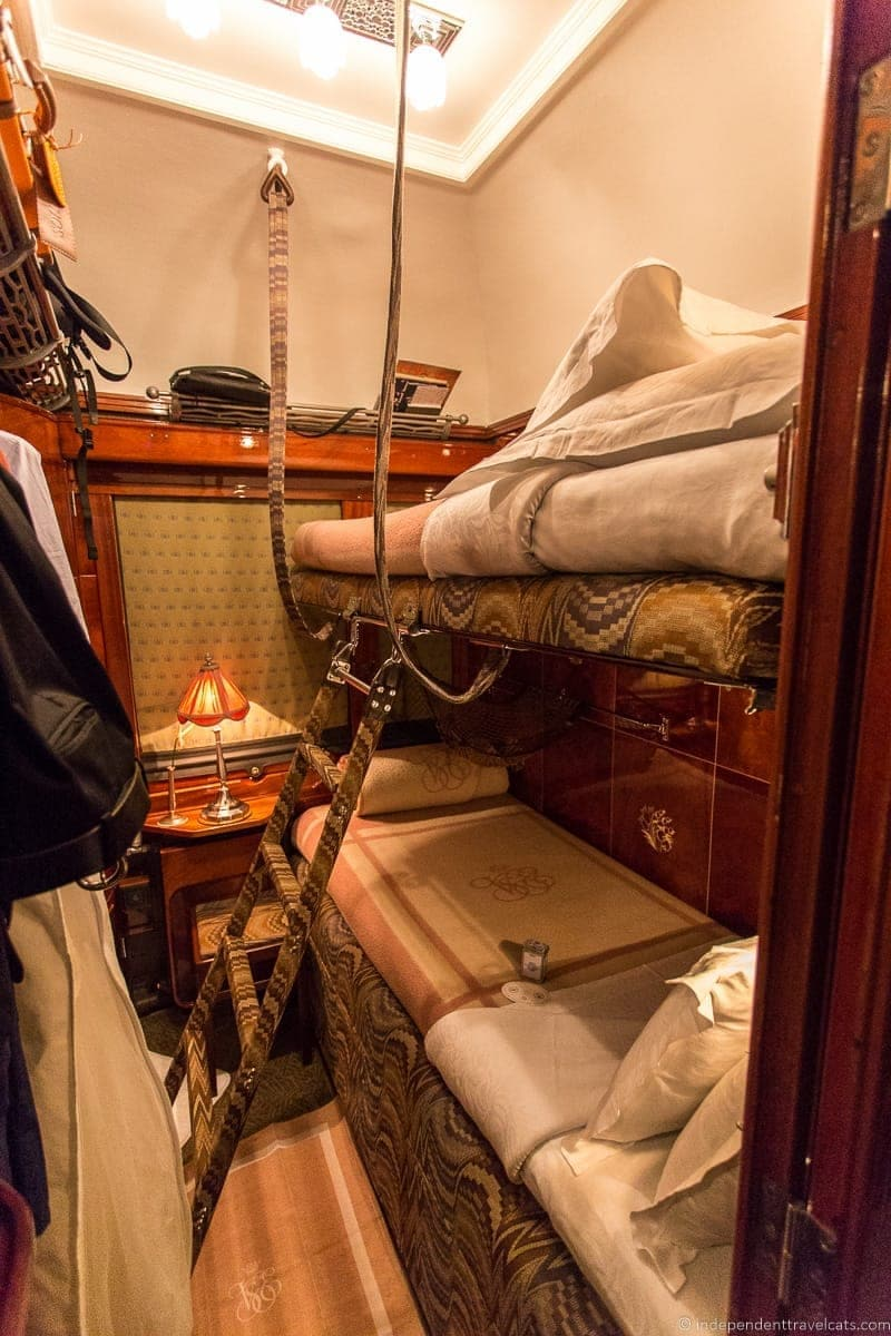 Belmond Venice Simplon Orient Express train cabin compartment
