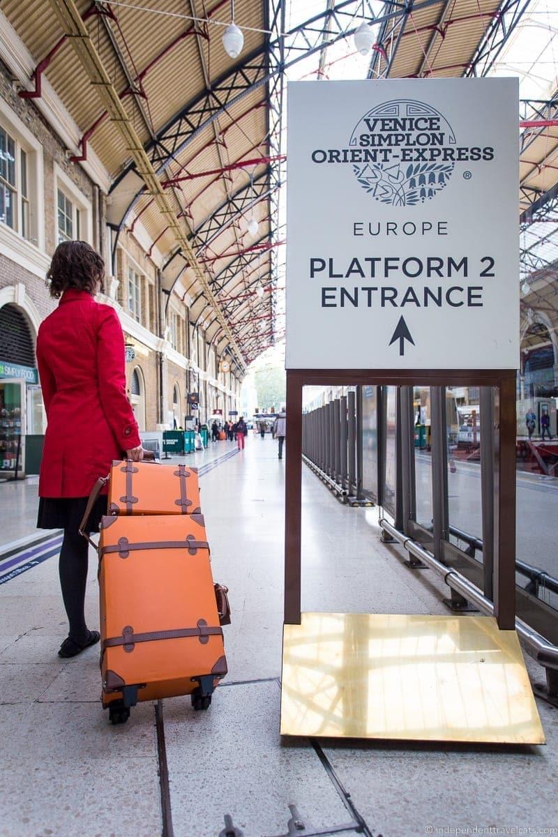 Belmond Venice Simplon-Orient-Express train London Victoria waiting lounge